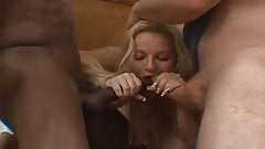 Insatiable whore fucked by two dicks