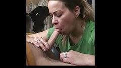 PETITE MILF WHORE BLOWS MY COCK FOR A WHILE
