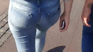 Teen in jeans