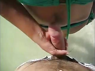 Seaside handjob