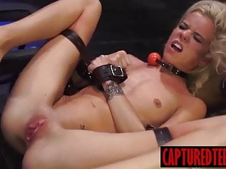 Horny Halley got facial after bondage and dominating sex