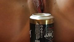A can beer in the pussy