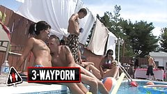 3-WayPorn -  INSANELY Cool Pool Party Orgy