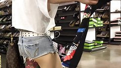 Asian with Nice Ass, Legs, Tattoo, Feet, Tits Hidden Cam