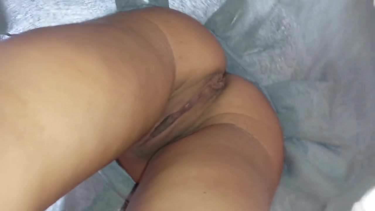 Girl showing pantiless upskirt in archade