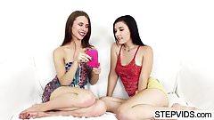 Anya And Jenna Share Their Stepbro