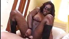 Black slut big tits white cock interracial