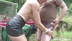 Sexy German Granny seducing a farmer