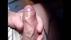 wanking a load from my small uncut cock