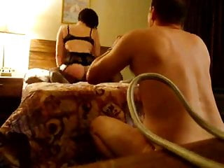 Short Haired Wife Rides Black Bull For Hubby - PF1