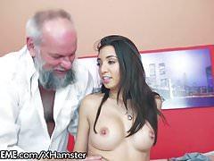 21Sextreme Teen Takes a Ride on Grandpas Cock