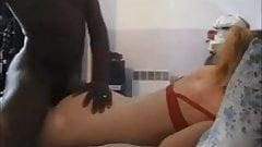 Amateur big butt babe interracial anal