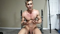 Hung Hunk Stud Working Out Naked