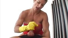 Amazon Rubber Glove Handjob