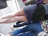 super hot girl ultra mini skirt 2