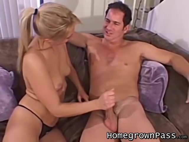 Sara gives nice handjob-9161