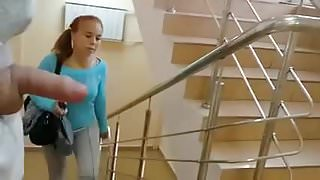 She sees stairway flasher