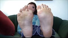 Brunette Gorgeous Feet Perfect Soles