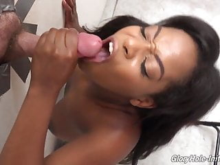 Black girl suck and fuck anonymous white cock