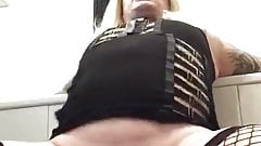 Horny sissy fucks her ass hard