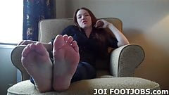 My sexy toes are ready for you to suck on JOI