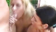 Fucking Two Hot Girls Outdoor