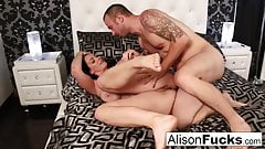 Alison's wet throbbing pussy gets stuffed by Chad