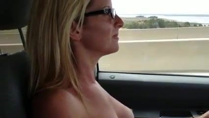 Highway wife topless on