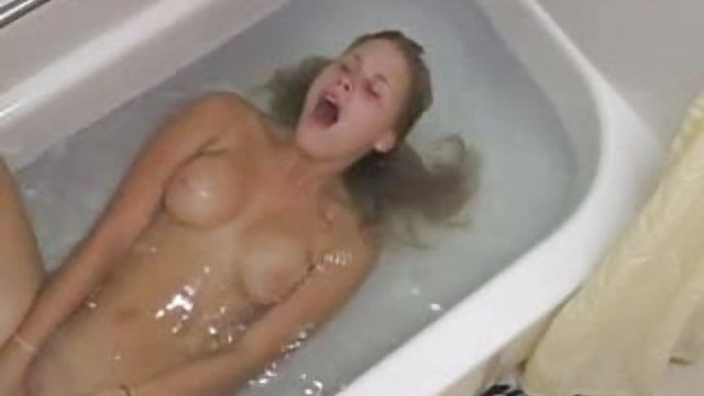 Masturbation in bathtub