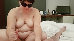 Another handjob from my wife with huge cum shot
