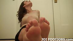 Slide your hard cock between my silky feet JOI