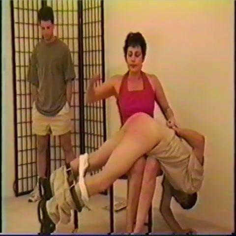 Woman spank men thumbs — img 1