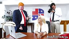 Latina babe Luna Star ass fucked in presidential office