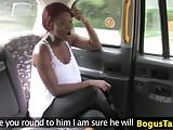 Black british taxi babe gives sloppy head POV