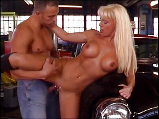 Sexy young blonde gets fucked in the shop