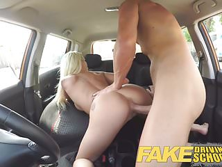 Preview 5 of Fake Driving School Barbie earns her pass with a huge facial