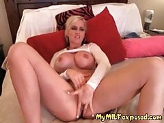 My MILF Exposed Busty blonde mom rubbing shaved slit