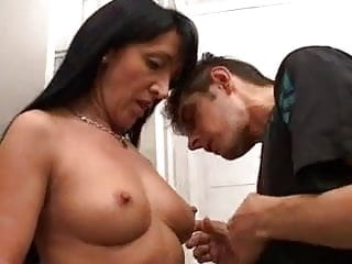nice italian mature plays with joung guy