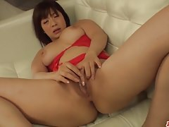 Perfect toy porn with busty milf in heats Wakaba Onoue