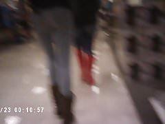 Cute Teen Shopping At Mall