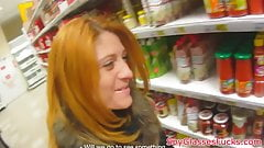 Euro redhead pickedup and fucked on spycam