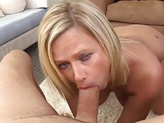 Blonde MILF Blowjob and Cum Swallow
