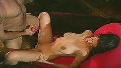 Brunette taking huge cumshot