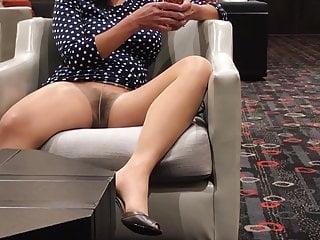 Pantyhose Upskirt Flashing in Public Compilation 1