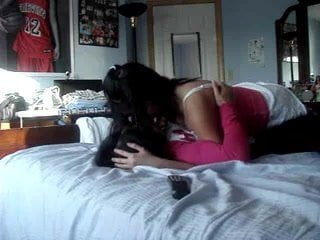 Lesbian asian teens play around at home 2