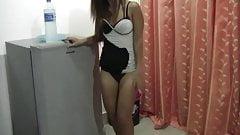 hot teasing thaigirl in my hotelroom