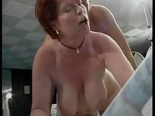 mother with big boobs fucks with her son's friend