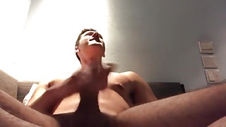 Hunky college student jerks off
