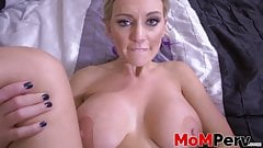 Superb MILF Kenzie Taylor banged after POV blowing stepson 's Thumb