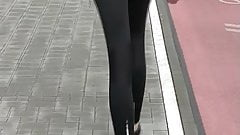 Candid - Leggings Ass of 19 Year Old Law Student